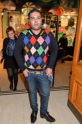 DJ, songwriter, record producer and musician NAUGHTY BOY at the opening night of Amaluna by Cirque Du Soleil at The Royal Albert Hall, London on 19th January 2016.