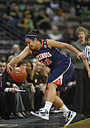 February 24 2011: Illinois Fighting Illini guard Amber Moore (42) tries to save the ball from going out of bounds during the first half of an NCAA women's college basketball game at Carver-Hawkeye Arena in Iowa City, Iowa on February 24, 2011. Iowa defeated Illinois 83-64.