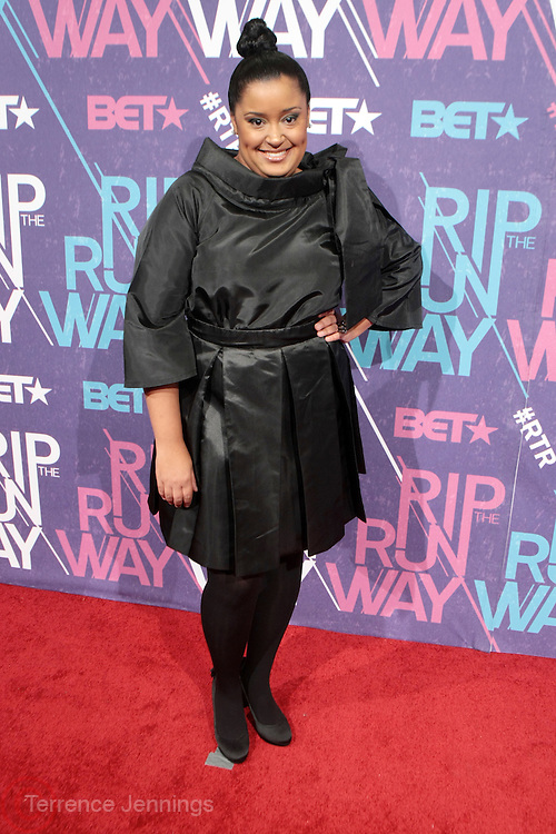 New York, NY- FEBRUARY 29:  Fashion Designer Tennielle White at the BET Rip The Run Way held at the Hammerstein Ballroom on February 29, 2012 in New York City. Photo Credit: Terrence Jennings