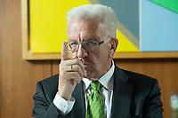22 SEP 2016, BERLIN/GERMANY:<br /> Winfried Kretschmann, B90/Gruene, Ministerpraesident Baden-Wuerttemberg, waehrend einem Interview, Landesvertertung Baden-Wuerttemberg<br /> IMAGE: 20160922-01-009