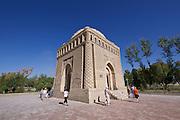 Uzbekistan, Bukhara. Ismail Samani Mausoleum, Samanids recreation park.