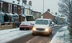 © under license to London News pictures. 27/11/2010. Cars battle through treacherous driving conditions in Cliford, Bedfordshire this morning (27/11/2010). The whole of the UK is expected experience sub zero temperatures and heavy snowfall over the next few weeks. Photo credit should read: Stephen Simpson/LNP