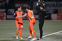 Martin MIMOUN / Selim BEN DJEMIA  - 06.03.2015 - Nancy / Laval - 27eme journee de Ligue 2 <br />Photo : Fred Marvaux / Icon Sport