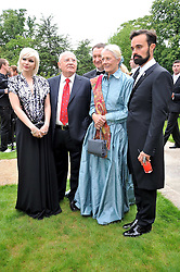 Left to right, Anastasia Virganskaya, MIKHAIL GORBACHEV, VANESSA REDGRAVE and EVGENY LEBEDEV at the Raisa Gorbachev Foundation fourth annual fundraising gala dinner held at Stud House, Hampton Court, Surrey on 6th June 2009.