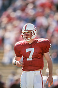 PALO ALTO, CA - OCTOBER 26:  Todd Husak #7 of the Stanford Cardinal plays in an NCAA football game against the Arizona State Sun Devils on October 26, 1996 at Stanford Stadium on the campus of Stanford University in Palo Alto, California.  (Photo by David Madison/Getty Images) *** Local Caption *** Todd Husak