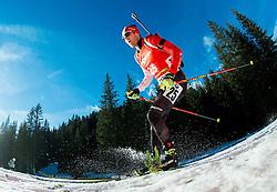 SMITH Nathan (CAN) competes during Men 12,5 km Pursuit at day 3 of IBU Biathlon World Cup 2014/2015 Pokljuka, on December 20, 2014 in Rudno polje, Pokljuka, Slovenia. Photo by Vid Ponikvar / Sportida