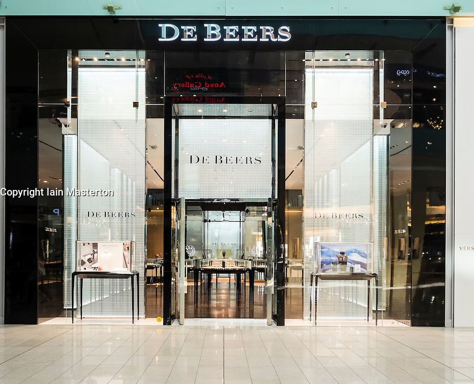 De Beers shop in Dubai Mall United Arab Emirates