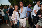 CHLOE GREEN; OLLIE LOCK, Chucs Dive & Mountain Shop charity Swim Party: Lido at The Serpentine. London. 4 July 2011. <br /> <br />  , -DO NOT ARCHIVE-© Copyright Photograph by Dafydd Jones. 248 Clapham Rd. London SW9 0PZ. Tel 0207 820 0771. www.dafjones.com.