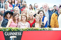 Ladies at the Anthony Ryans Best dressed  Competition during  The Galway Races. Photo:Andrew Downes