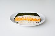 Spicy Salmon Onigirazu from Ennju ($3.81)