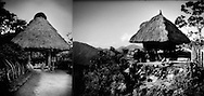 Identical structures, one in Okinawa (L) and one on Luzon Island in the Philippines(R).  Malayo-Polynesian influence on the Ryukyu Islands of Okinawa Prefecture go back further than do Chinese influences, as evidenced in the Okinawan rice storage house on the left and the traditional house of former headhunting Proto-Malay Ifugao from the remote mountains of the northernmost main island of Luzon in the Philippines.  Ethnically related former headhunting peoples inhabit the high mountains that line the east coast of Taiwan and this structure is common in Taiwan too.  The structures are identical right down to the method of preventing rats from entering the structure, except that Okinawans are not known to have lived in such buildings, which served as rice storage houses.