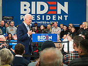 04 JANUARY 2020 - DES MOINES, IOWA: Former Vice President JOE BIDEN speaks at a campaign event in Des Moines. Vice President Biden is touring Iowa this week to support his candidacy for the US Presidency. Iowa hosts the first presidential selection event of the 2020 election cycle. The Iowa caucuses are on February 3, 2020.       PHOTO BY JACK KURTZ