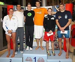 27.11.2011, Aqua Nova, Wiener Neustadt, AUT, OSV, 38. STROECK Austrian Qualifying 2011 im Schwimmen, im Bild Best Performance Platz 1 Rogan Markus AUT, Aljand Trii EST, Platz 2 Laura Letrari ITA, Bal Randall USA, 3 Platz Lisa Zaiser AUT Jukic Dinko AUT  //  Best Performance Platz 1 Rogan Markus AUT, Aljand Trii EST, Platz 2 Laura Letrari ITA, Bal Randall USA, 3 Platz Lisa Zaiser AUT Jukic Dinko AUT during {BEWERB} at 38th STROCK Austrian Qualifying 2011 in swimming at indoor swimming pool in Aqua Nova, Wiener Neustadt, Austria on 2011/11/27. EXPA Pictures © 2011, PhotoCredit: EXPA/ Stephan Woldron