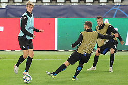 November 5, 2019, Paris, France: Club's Charles De Ketelaere, Club's Mats Rits and Club's Siebe Schrijvers fight for the ball during a training session of Belgian soccer team Club Brugge KV, Tuesday 05 November 2019 in Paris, France, in preparation of tomorrow's match against French club Paris Saint-Germain Football Club in the first round of the UEFA Champions League. (Credit Image: © Bruno Fahy/Belga via ZUMA Press)