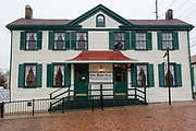 """USA Missouri MO, Hannibal a port town on the Mississippi River better known as the childhood town of Samuel Langhorne Clemens AKA Mark Twain. Home of Laura Hawkins, whom Samuel Clemens loved, and later put in his books as """"Becky Thatcher"""","""