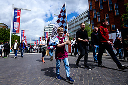 Aston Villa fans arrive at Wembley for the Sky Bet Playoff Final against Derby County - Mandatory by-line: Robbie Stephenson/JMP - 27/05/2019 - FOOTBALL - Wembley Stadium - London, England - Aston Villa v Derby County - Sky Bet Championship Play-off Final
