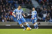 Brighton central midfielder, Beram Kayal (7) in action during the Sky Bet Championship match between Brighton and Hove Albion and Huddersfield Town at the American Express Community Stadium, Brighton and Hove, England on 23 January 2016. Photo by Geoff Penn.