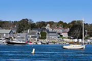 Charming New England coastal town of Westport, Massachusetts, USA.