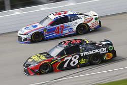 August 12, 2018 - Brooklyn, Michigan, United States of America - Martin Truex, Jr (78) and AJ Allmendinger (47) battle for position during the Consumers Energy 400 at Michigan International Speedway in Brooklyn, Michigan. (Credit Image: © Chris Owens Asp Inc/ASP via ZUMA Wire)