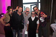 Alabama 3 with Olaf Tyranson and Sr. Agnes at the HMV party for the Galway Film Fleadh. Photo:Andrew Downes