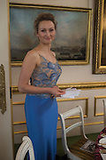 ALENA KERESHUN; The 20th Russian Summer Ball, Lancaster House, Proceeds from the event will benefit The Romanov Fund for RussiaLondon. 20 June 2015