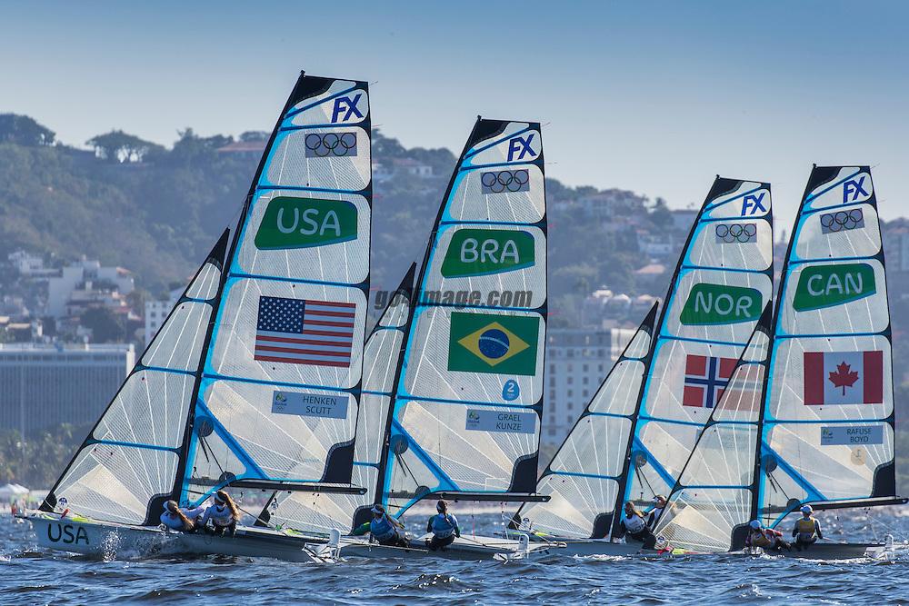 49er FX USA Paris Henken USAPH79 Helena Scutt USAHS38<br /> <br /> 2016 Olympic Games <br /> Rio de Janeiro