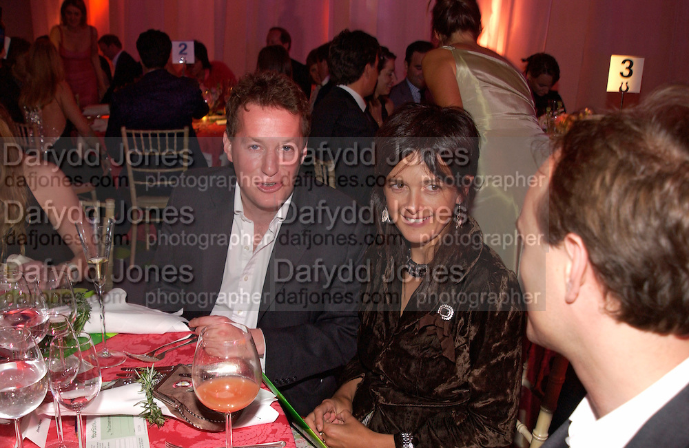 Orlando Fraser and Emma Hope, Conservative Party - private fundraiser<br />Shepherds Bush Pavilion. 13 May 2004. SUPPLIED FOR ONE-TIME USE ONLY&gt; DO NOT ARCHIVE. &copy; Copyright Photograph by Dafydd Jones 66 Stockwell Park Rd. London SW9 0DA Tel 020 7733 0108 www.dafjones.com