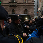Images of Timothy Cardinal Dolan as he returns to his residence on Madison Avenue from the Consistory at the Vatican on February 18th.