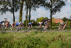 Emilie Moberg (Hitec Products) speeds by as the peloton gets strung out at the 116 km Stage 5 of the Boels Ladies Tour 2016 on 3rd September 2016 in Tiel, Netherlands. (Photo by Sean Robinson/Velofocus).