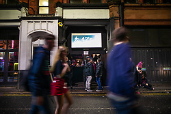 """© Licensed to London News Pictures . 13/12/2019 . Manchester , UK . GV of """" 42's """" (also known as """" 42nd Street"""") nightclub on Bootle Street in Manchester City Centre . Sinaga was living in Montana House and committed many of his offences after finding victims at nearby clubs . Reynhard Sinaga has been convicted of over a hundred serious sexual assaults , including the rape of dozens of young men whom he lured to his flat from outside nightclubs in Manchester City Centre , making him one of the most prolific sex offenders ever to have been tried and convicted . Photo credit : Joel Goodman/LNP"""
