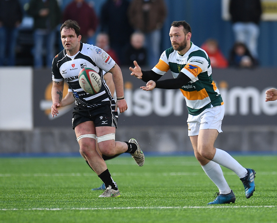 Merthyr' Gareth Davies<br /> Photographer Mike Jones/Replay Images<br /> <br /> Principality Premiership Merthyr v Pontypridd - Saturday 17th February 2018 - The Wern Merthyr Tydfil<br /> <br /> World Copyright © Replay Images . All rights reserved. info@replayimages.co.uk - http://replayimages.co.uk