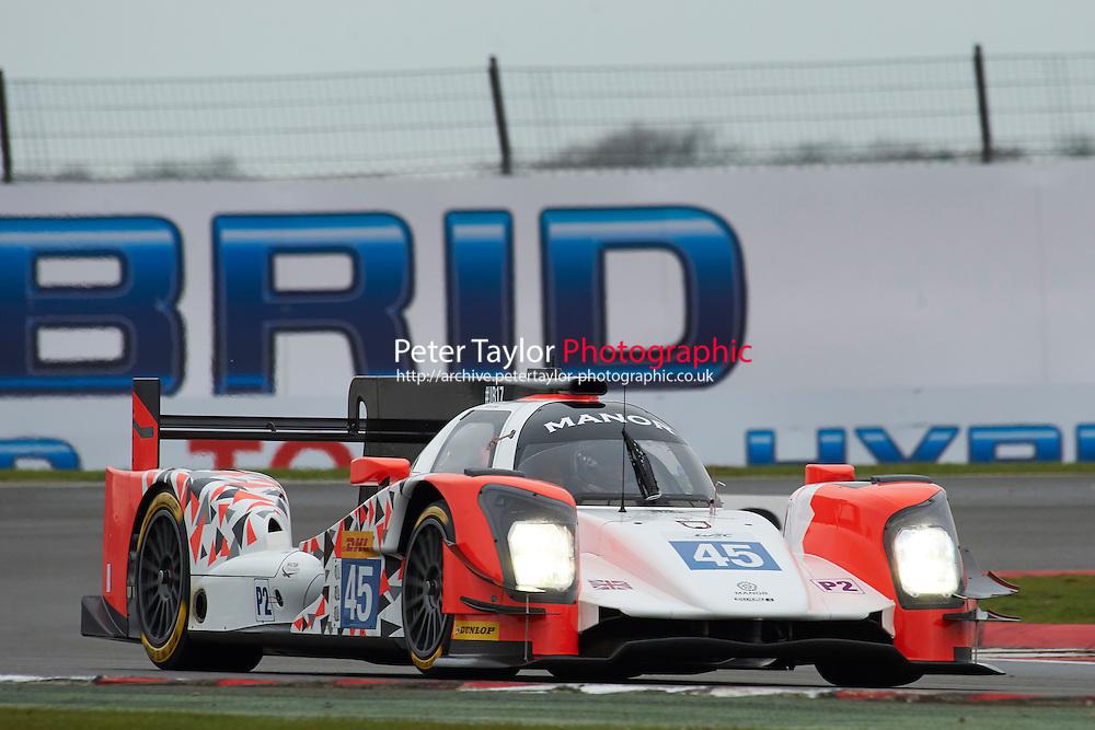 Matthew Rao (GBR) / Richard Bradley (GBR) / Roberto Merhi #45 Manor Oreca 05 Nissan,  at Silverstone, Towcester, Northamptonshire, United Kingdom. April 15 2016. World Copyright Peter Taylor.