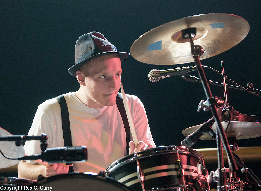 Drummer Jeremiah Fraites and The Lumineers perform at Verizon Theater in Grand Prairie on Thursday, April, 25, 2013....(Rex C. Curry/Special Contributor)