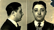 Prostitutes And Madams: Mugshots From When Montreal Was Vice Central<br /> <br /> Montreal, Canada, 1949. Le Devoir publishes a series of articles decrying lax policing and the spread of organized crime in the city. Written by campaigning lawyer Pacifique &lsquo;Pax&rsquo; Plante (1907 &ndash; 1976) and journalist G&eacute;rard Filion, the polemics vow to expose and root out corrupt officials.<br /> <br /> With Jean Drapeau, Plante takes part in the Caron Inquiry, which leads to the arrest of several police officers. Caron JA&rsquo;s Commission of Inquiry into Public Morality began on September 11, 1950, and ended on April 2, 1953, after holding 335 meetings and hearing from 373 witnesses. Several police officers are sent to prison.<br /> <br /> During the sessions, hundreds of documents are filed as evidence, including a large amount of photos of places and people related to vice.  photos of brothels, gambling dens and mugshots of people who ran them, often in cahoots with the cops &ndash; prostitutes, madams, pimps, racketeers and gamblers.<br /> <br /> Photo shows: James Masters, alias Gaetano Mastracchio, 1940 &ndash; arrested in connection with an investigation related to the game.<br /> &copy;Archives de la Ville de Montr&eacute;al/Exclusivepix Media