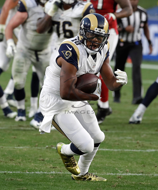 Los Angeles Rams wide receiver Pharoh Cooper (10) during the first half of an NFL football game against the Atlanta Falcons, Sunday, Dec. 11, 2016, in Los Angeles. (AP Photo/Rick Scuteri)