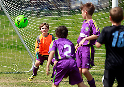 29 March 2015. New Orleans, Louisiana.<br /> U10 New Orleans Jesters Elites, Green team play Mandeville. Jesters take a 3-1 victory.<br /> Photo; Charlie Varley/varleypix.com