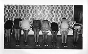 Contestants for the 'Loveley legs' competition at Butlins holiday camp.Minhead 1979.<br />