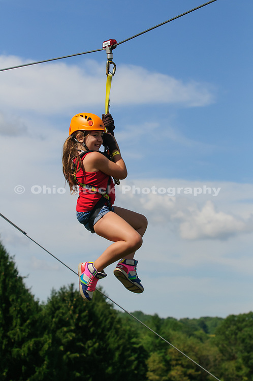 Dragonfly Zipline Adventure at Hocking Hills Canopy Tours in Rockbridge, Ohio.