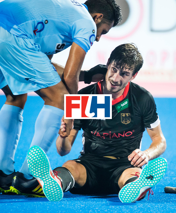 BHUBANESWAR - Hockey World League finals Match for bronze , Germany v India (1-2). Disappointed German player Florian Fuchs (Ger).  COPYRIGHT KOEN SUYK