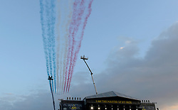 Red Arrows fly over - Photo mandatory by-line: Joe Meredith/JMP - Mobile: 07966 386802 - 11/09/14 - The Invictus Opening Ceremony - London - Queen Elizabeth Olympic Park