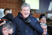 Roy Hodgson in the crowd during the EFL Sky Bet League 1 match between AFC Wimbledon and Oxford United at the Cherry Red Records Stadium, Kingston, England on 14 January 2017. Photo by Matthew Redman.