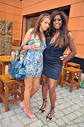 Left to right, MONET PARIS and her mother MICA PARIS at a treasure hunt and dinner hosted by Fiat to celebrate the launch of the Fiat 500 C held at Zuma, Raphael Street, London on 29th June 2009.