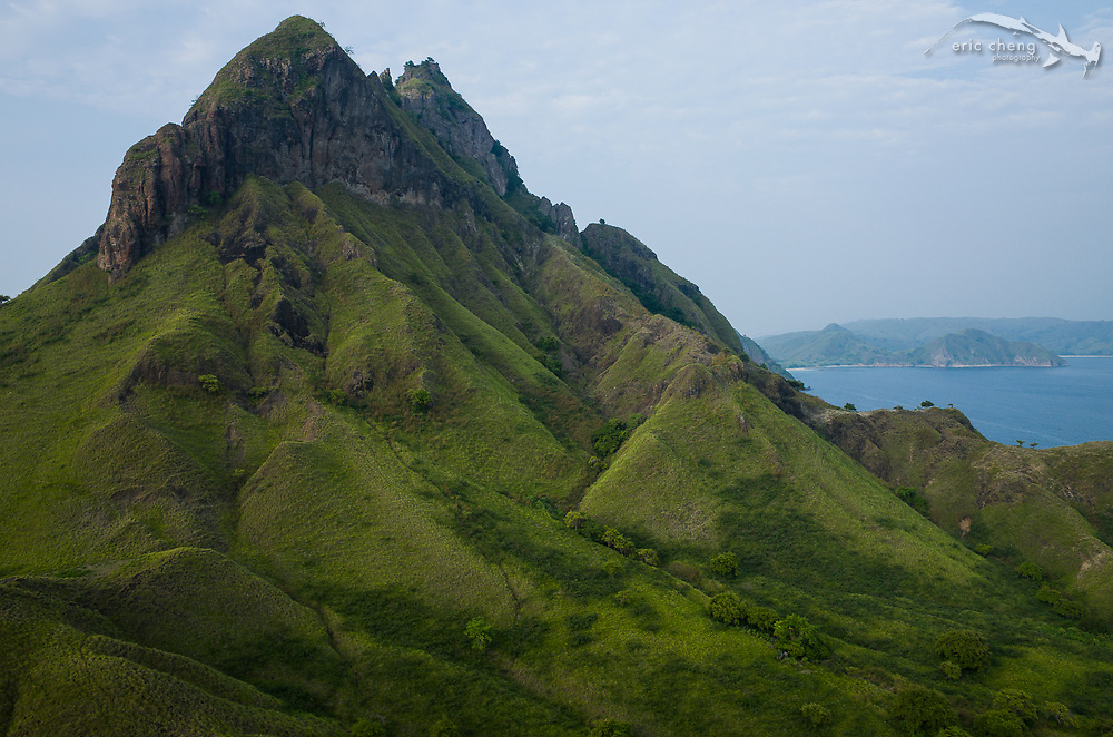 A mountain in Komodo, Indonesia.