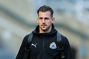 Martin Dubravka (#12) of Newcastle United arrives ahead of the Premier League match between Newcastle United and Everton at St. James's Park, Newcastle, England on 9 March 2019.