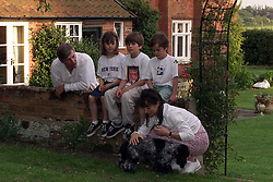 Max Dolbey was picked to star in the lead of American TV/film version of David Copperfield. Max Dolbey 10 .(trousers), photographed here with his family, Dad, Alex, sister, Eliza 8, Brother, Jack 5 and his mother Suzie at their home in Suffolk, May 16, 2000. Photo by Andrew Parsons / i-images..
