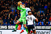 Bolton Wanderers goalkeeper Ben Alnwick (13) collects the cross during the EFL Sky Bet Championship match between Bolton Wanderers and Sunderland at the Macron Stadium, Bolton, England on 20 February 2018. Picture by Simon Davies.