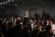 Fashion designer Christina Yi presents at Nolcha Fashion Week New York Fall-Winter 2014. Nolcha Fashion Week New York is a leading award winning event, held during New York Fashion Week, for independent fashion designers to showcase their collections to a global audience of press, retailers, stylists and industry influencers. Over the past six years Nolcha Fashion Week: New York has established itself as a platform of discovery promoting innovative fashion designers through runway shows and exhibition. Nolcha Fashion Week: New York has built an acclaimed reputation as a hot incubator of new fashion design talent and is officially listed by New York City Economic Development Corporation; offering a range of cost effective options to increase designers recognition and develop their business. (Photo: www.JeffreyHolmes.com)