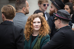 © Licensed to London News Pictures . 30/06/2017 . Stockport , UK . Coronation Street stars including JENNIE MCALPINE at the service . The funeral of Martyn Hett at Stockport Town Hall . Martyn Hett was 29 years old when he was one of 22 people killed on 22 May 2017 in a murderous terrorist bombing committed by Salman Abedi, after an Ariana Grande concert at the Manchester Arena . Photo credit : Joel Goodman/LNP