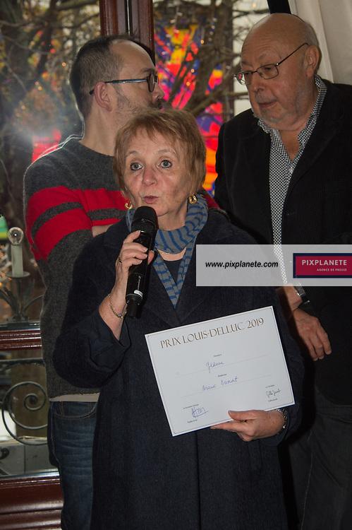 La productrice récupere le prix Louis Delluc décerné à Bruno Dumont Prix Louis Delluc 2019 Lundi 9 Décembre 2019 Le Fouquet's Paris