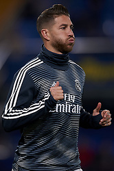 January 3, 2019 - Villarreal, Castellon, Spain - Sergio Ramos of Real Madrid during the warm-up before the week 17 of La Liga match between Villarreal CF and Real Madrid at Ceramica Stadium in Villarreal, Spain on January 3 2019. (Credit Image: © Jose Breton/NurPhoto via ZUMA Press)